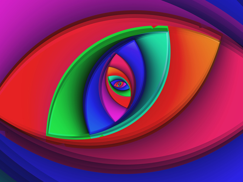Fractal Art Wallpaper, Eyebright Wallpaper
