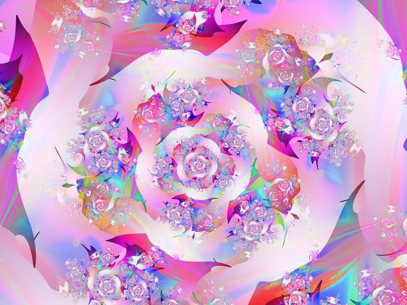 Fractal Art Wallpaper, First Rose