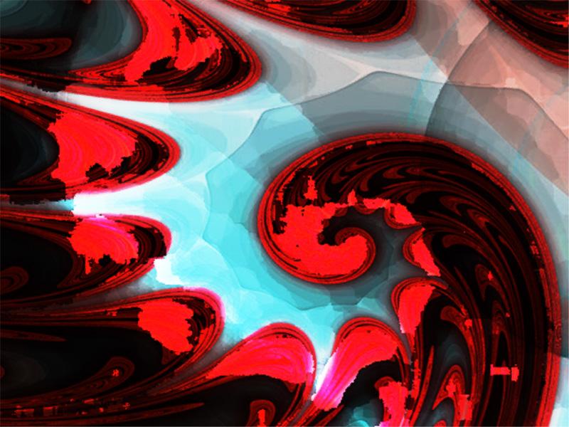 Fractal Art Wallpaper, Fleur 3