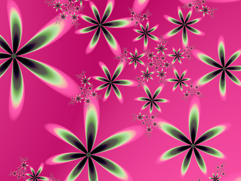 Fractal Art Wallpaper Flowers