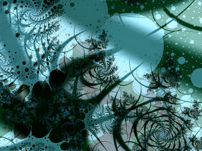 Fractal Art Wallpaper, Fruitful