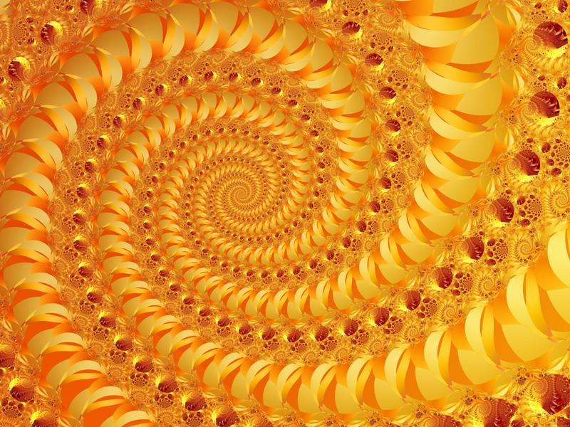 Fractal Art Wallpaper, Gold Leaf 2