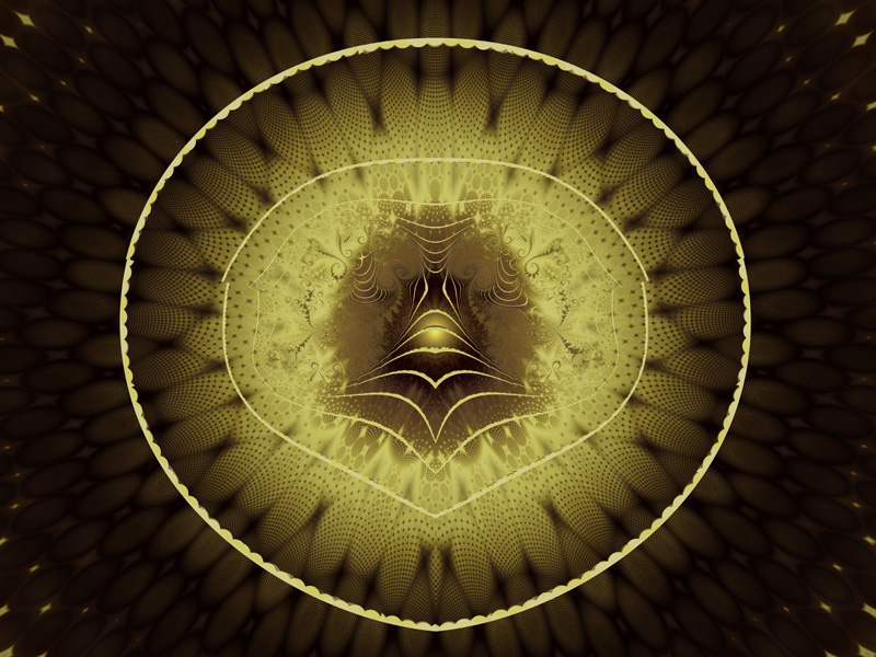 Fractal Art Wallpaper, Gold Ring