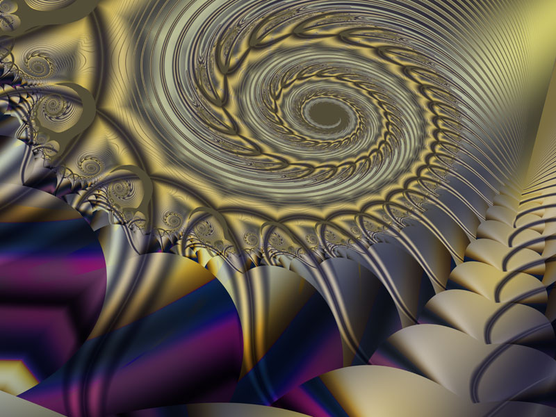 Fractal Art Wallpaper, Golden Matrix