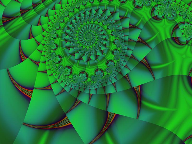 Fractal Art Wallpaper, Green 2