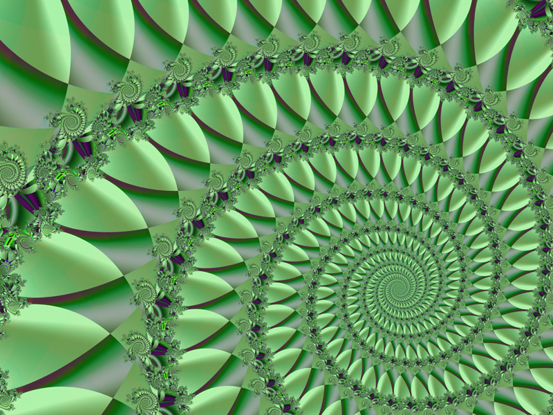 Fractal Art Wallpaper, Green 5