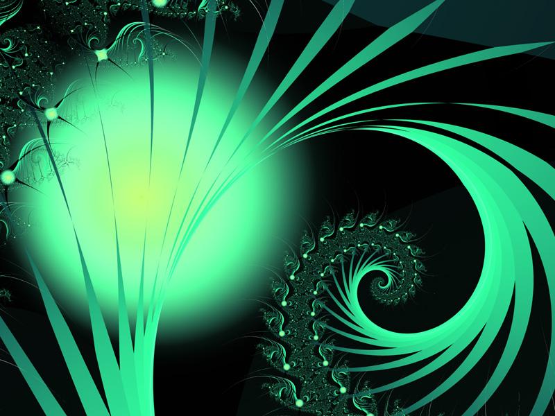 Fractal Art Wallpaper, Green Orb