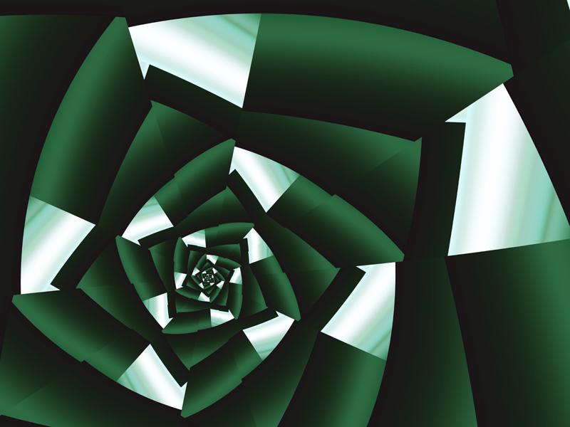 Fractal Art Wallpaper, Green Silk