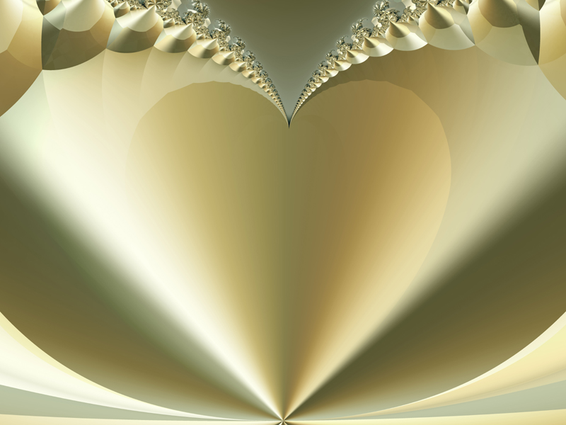 Fractal Art Wallpaper, Heart of Gold