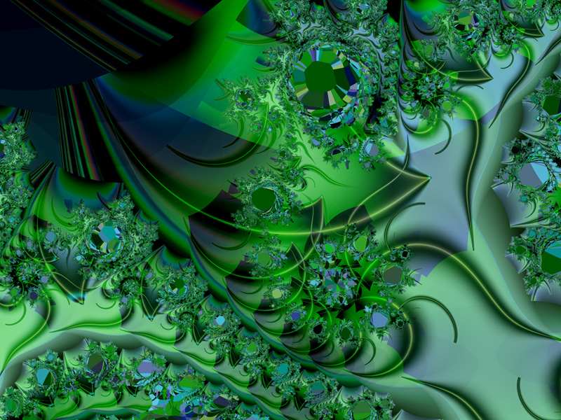 Fractal Art Wallpaper, Himalayan
