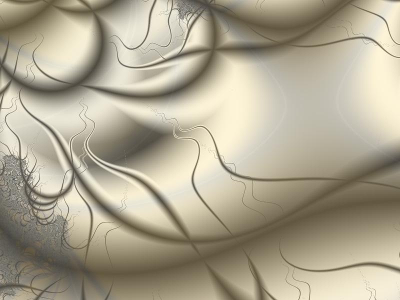 Fractal Art Wallpaper, Ivory
