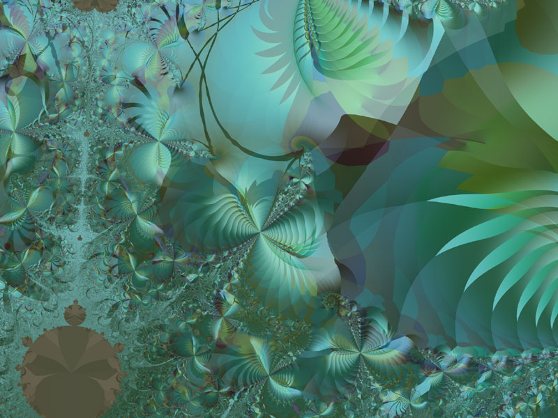 Fractal Art Wallpaper, Jungle