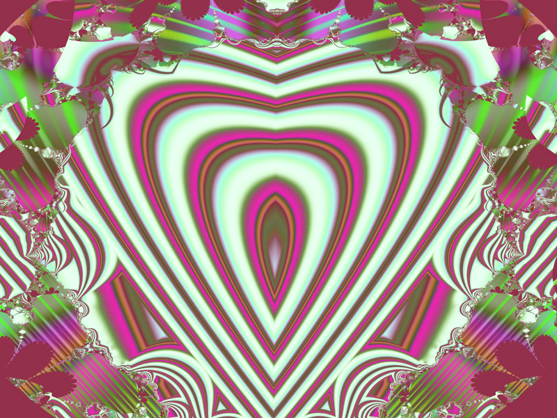 Fractal Art Wallpaper, Kind Heart