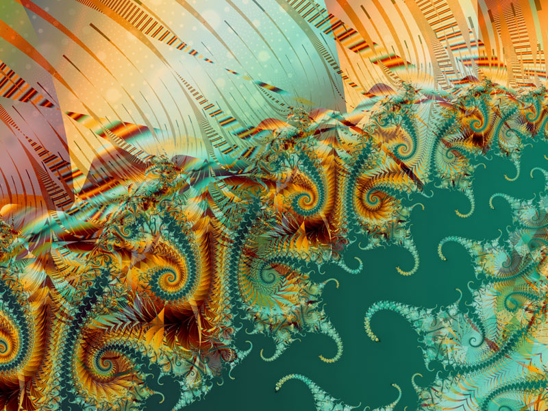 Fractal Art Wallpaper, Lightness of Being