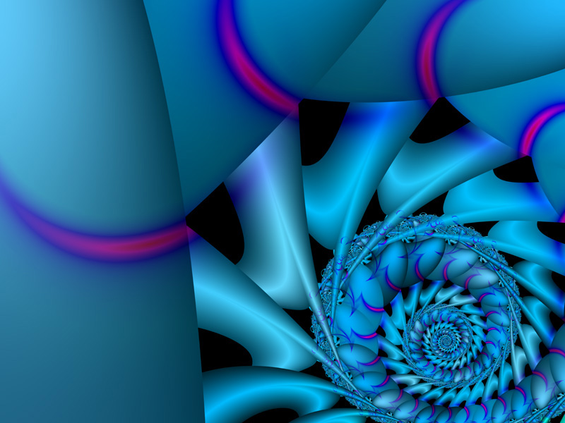 Fractal Art Wallpaper, Nautilus 2