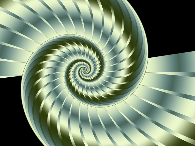 Fractal Art Wallpaper, Nautilus 3