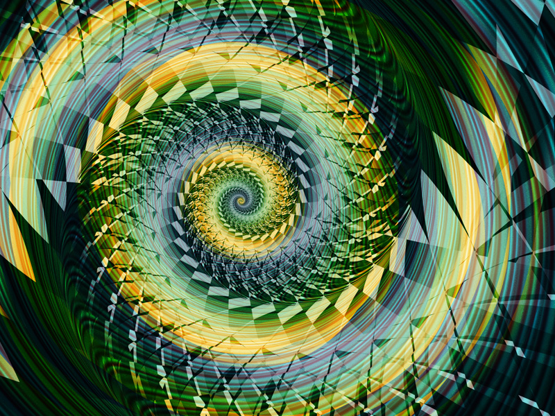 Fractal Art Wallpaper, Nautilus 5
