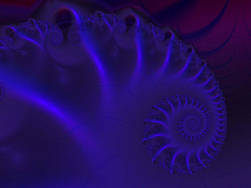Fractal Art Wallpaper, Nautilus