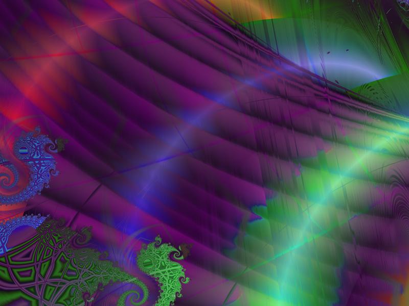 Fractal Art Wallpaper, Neon Wallpaper