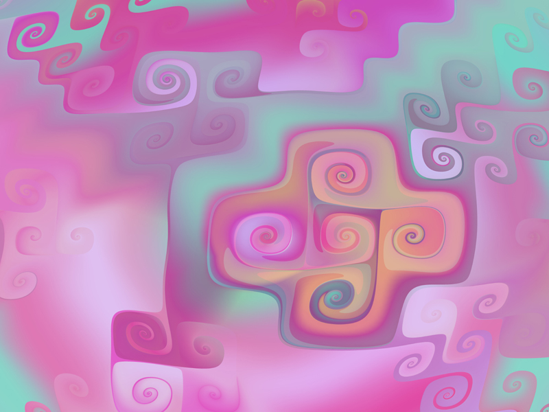 Fractal Art Wallpaper, Pastel