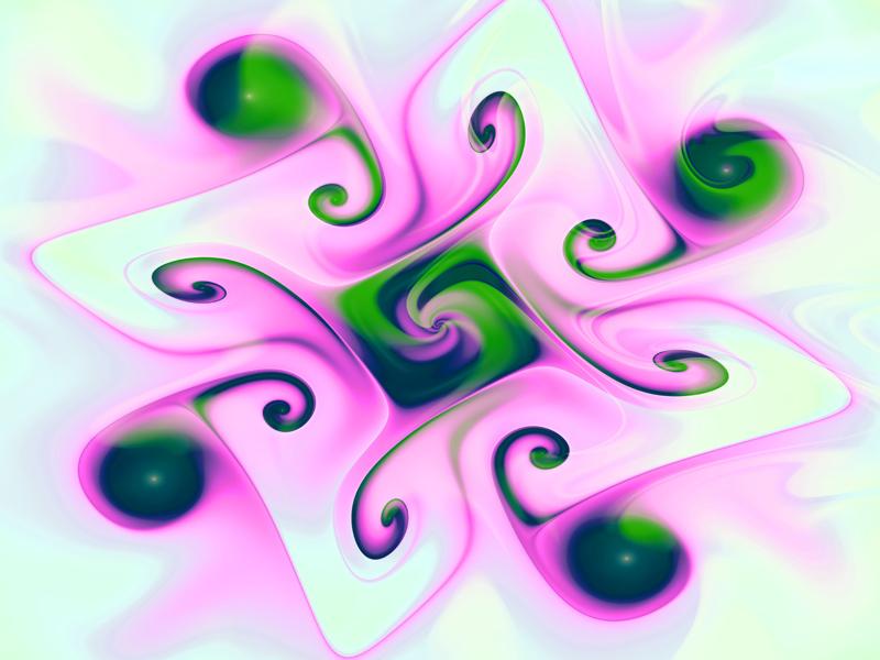 Fractal Art Wallpaper, Pink Gnarl