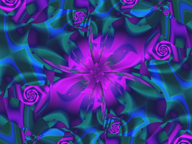 Fractal Art Wallpaper, Pinwheel 2
