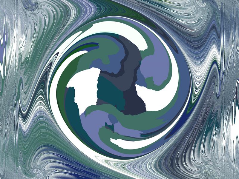 Fractal Art Wallpaper, Planet