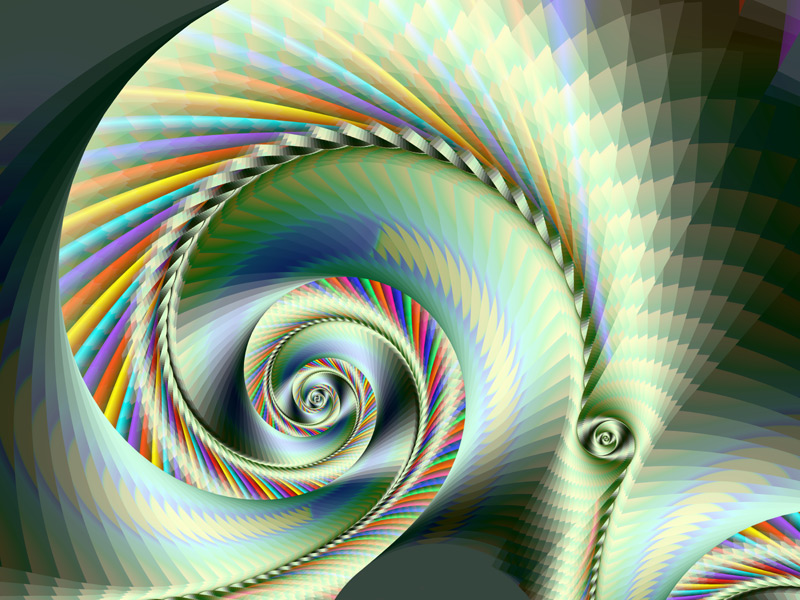 Fractal Art Wallpaper, Pleats 2