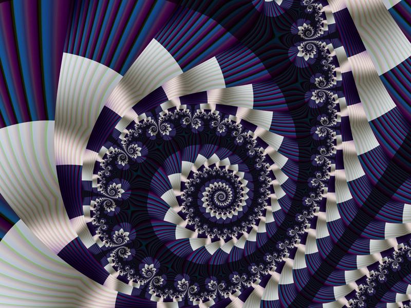Fractal Art Wallpaper, Pleats 3