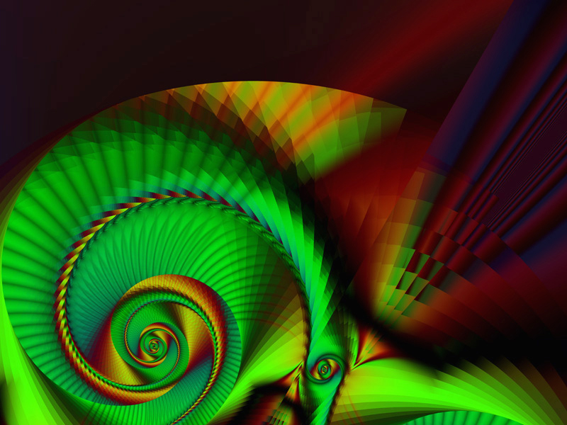 Fractal Art Wallpaper, Pleats