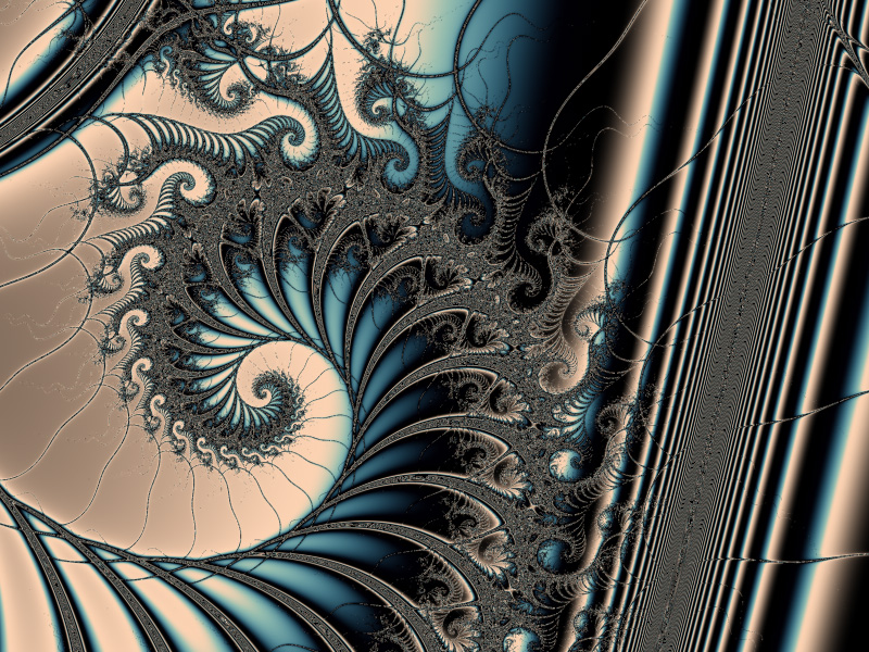 Fractal Art Wallpaper, Poseidon's Throne