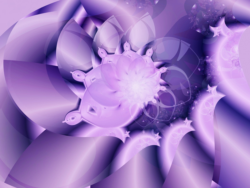 Fractal Art Wallpaper, Purple Bud