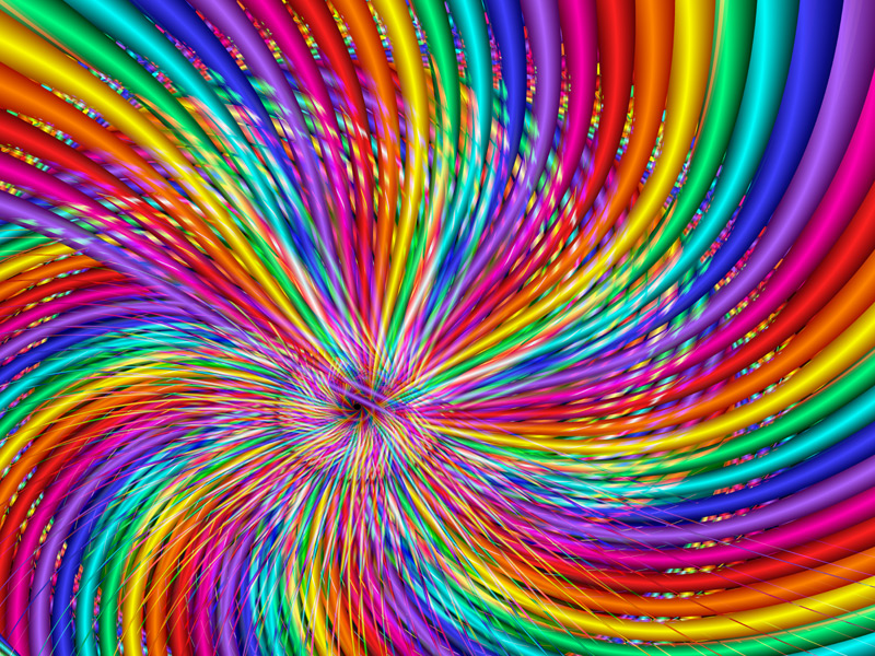 Fractal Art Wallpaper, Rainbow Swirl