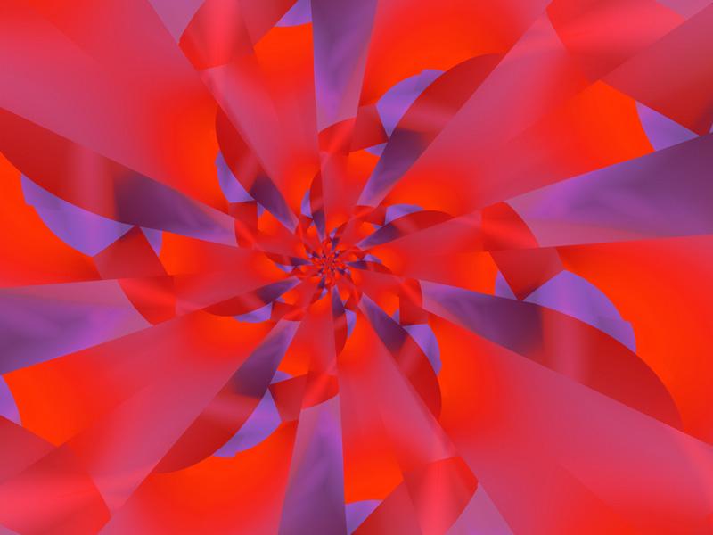 Fractal Art Wallpaper, Red 4