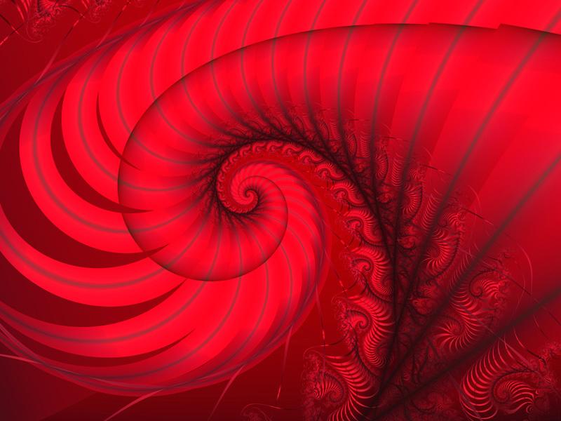 Fractal Art Wallpaper, Red 5