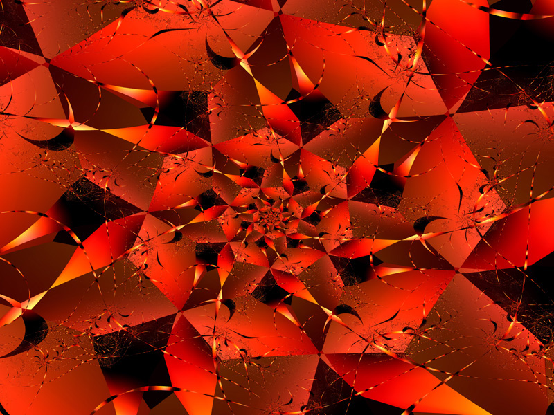 Fractal Art Wallpaper, Red 6