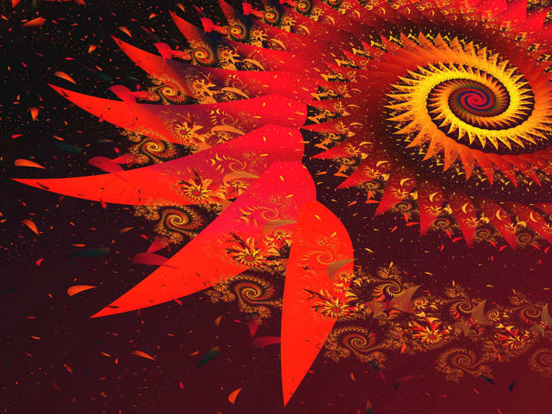 Fractal Art Wallpaper, Red 8