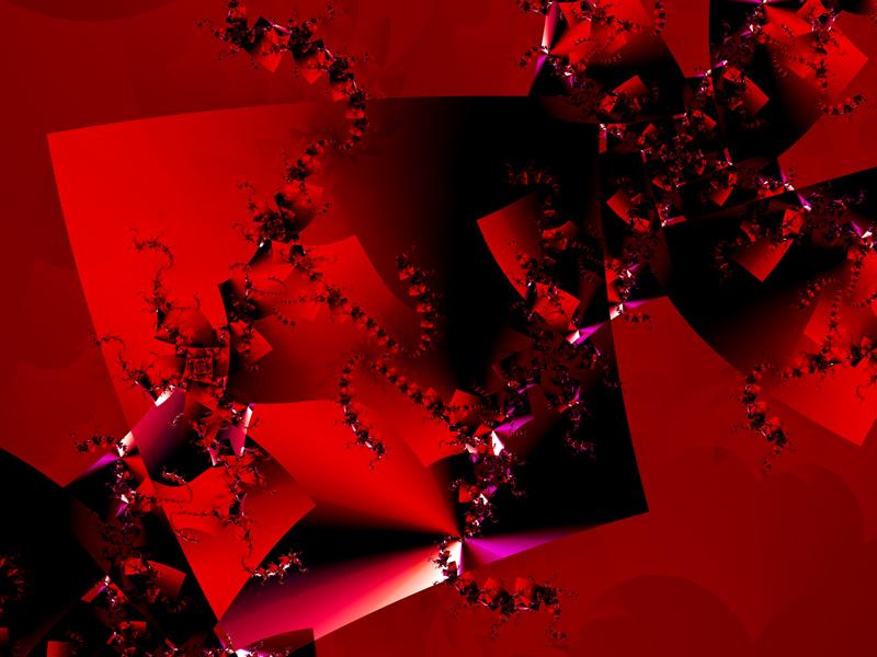 Fractal Art Wallpaper, Red Dancing