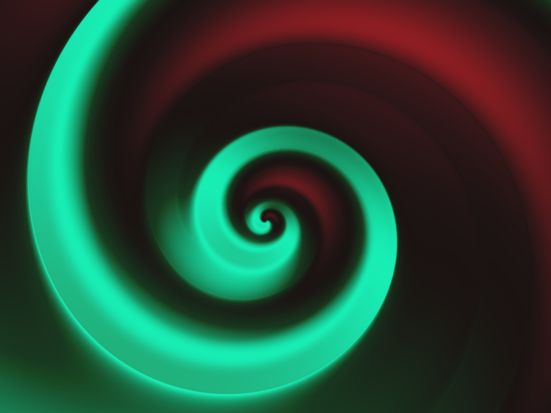 Fractal Art Wallpaper, Red Green Spiral