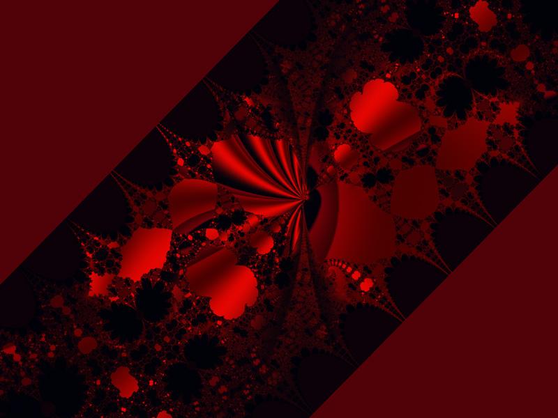 Fractal Art Wallpaper, Red