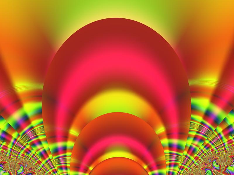Fractal Art Wallpaper, RGB Color