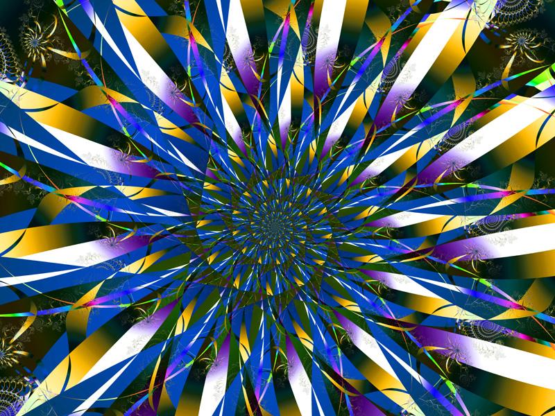 Fractal Art Wallpaper, Ribbons 2
