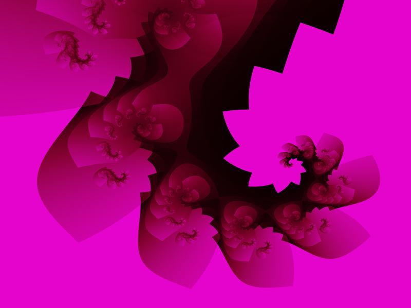Fractal Art Wallpaper, Rose 2