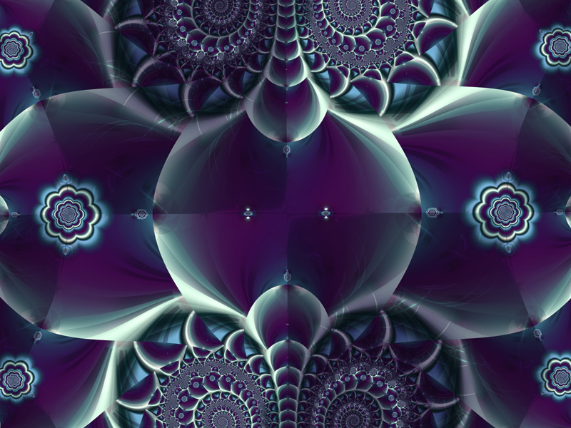 Fractal Art Wallpaper, Rosetta