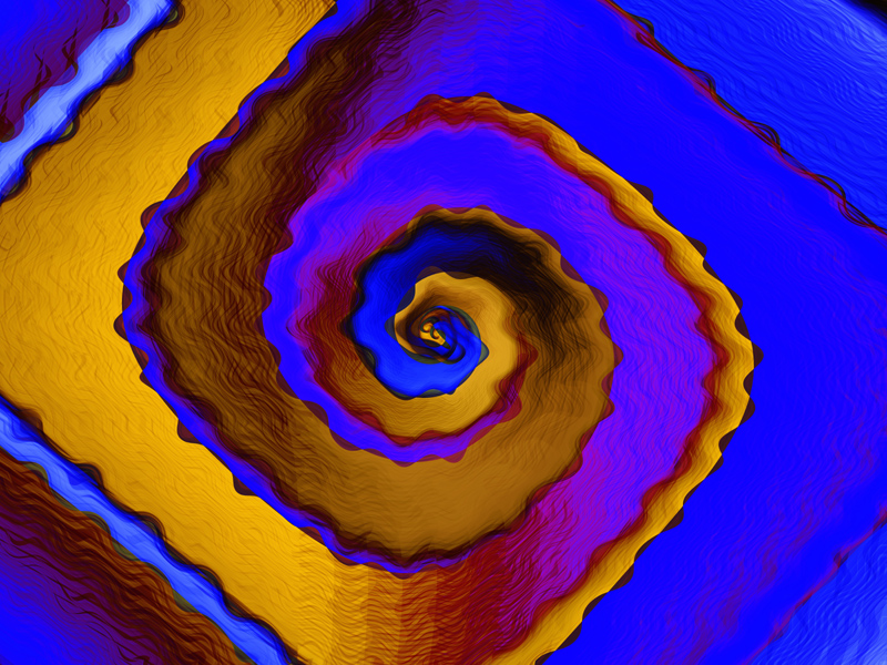 Fractal Art Wallpaper, Royal Spiral
