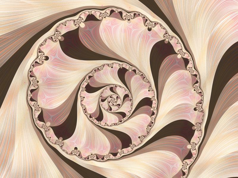 Fractal Art Wallpaper, Seashell