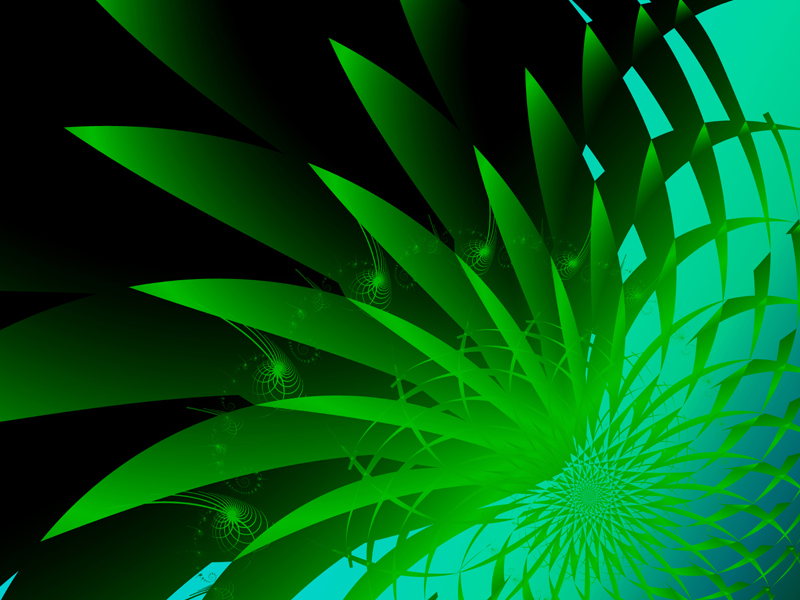 Fractal Art Wallpaper, Seaweed 3