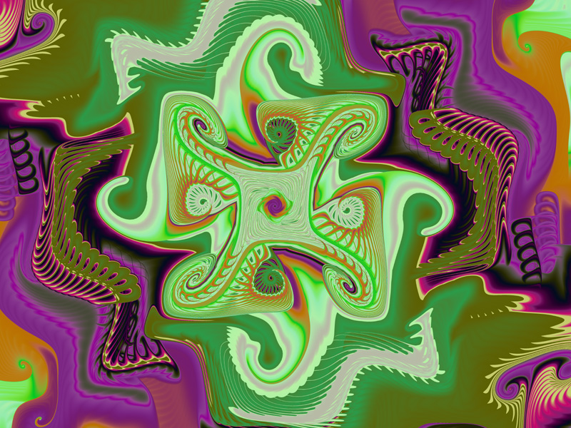 Fractal Art Wallpaper Secondary Colors