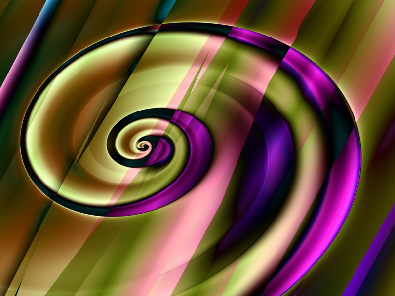 Fractal Art Wallpaper, Spiral 3