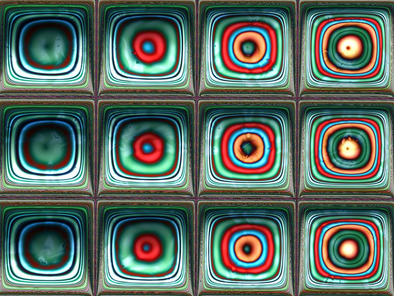 Fractal Art Wallpaper, Squares 2